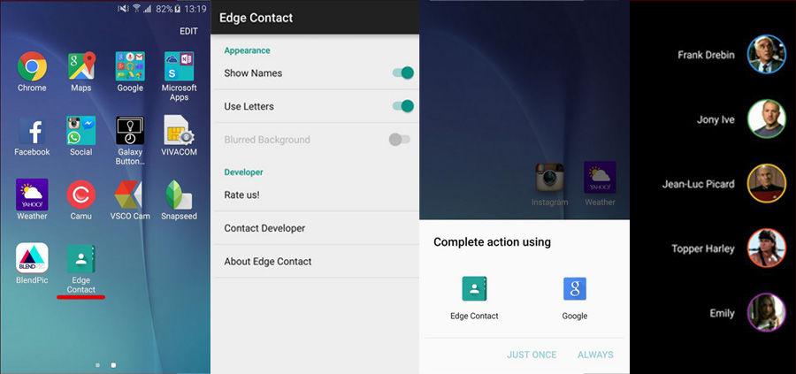 Instalar People Edge en el Galaxy S6