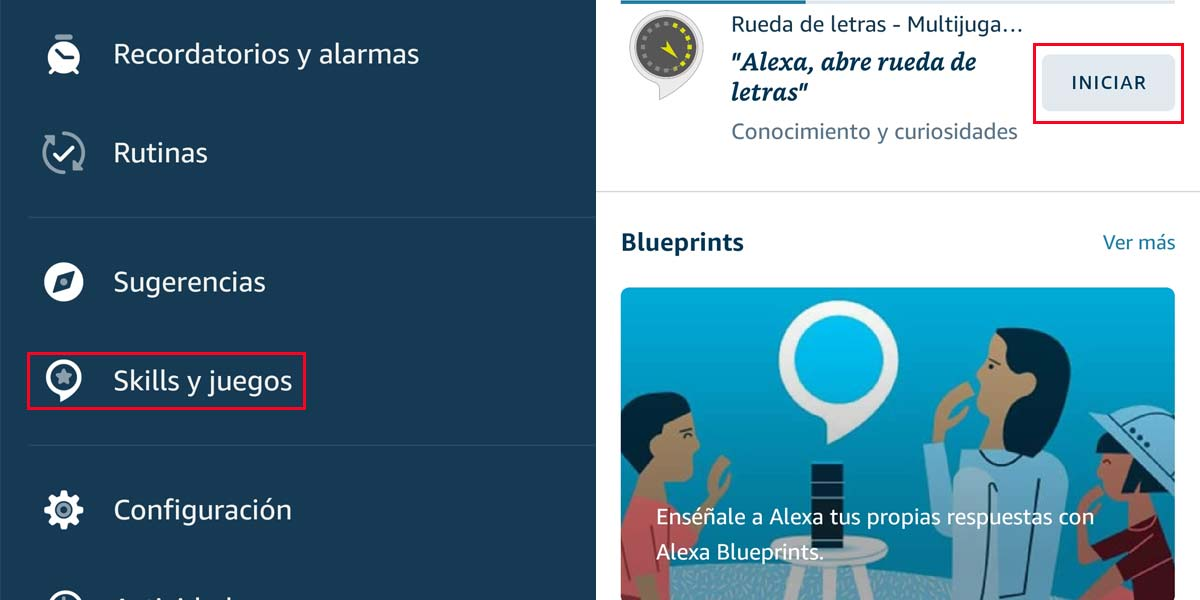 Instalar Skills en los Amazon Echo