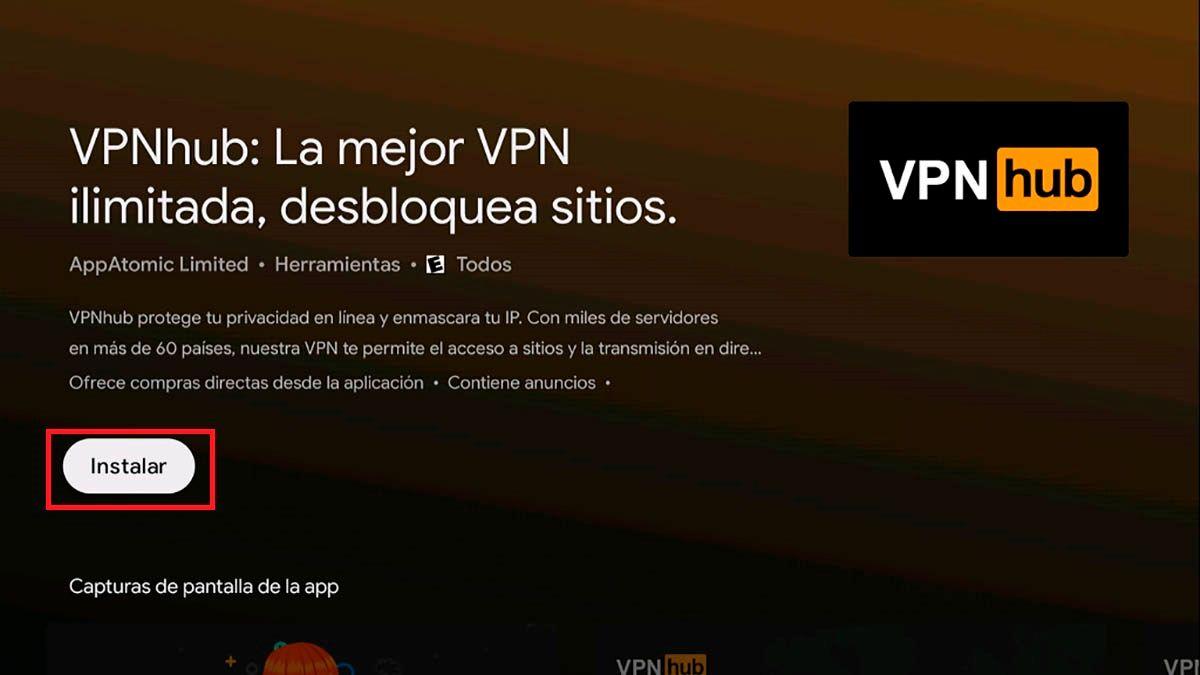 Instalar VPN Android TV