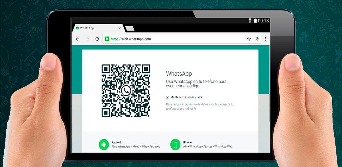 Instalar WhatsApp Web en una tablet