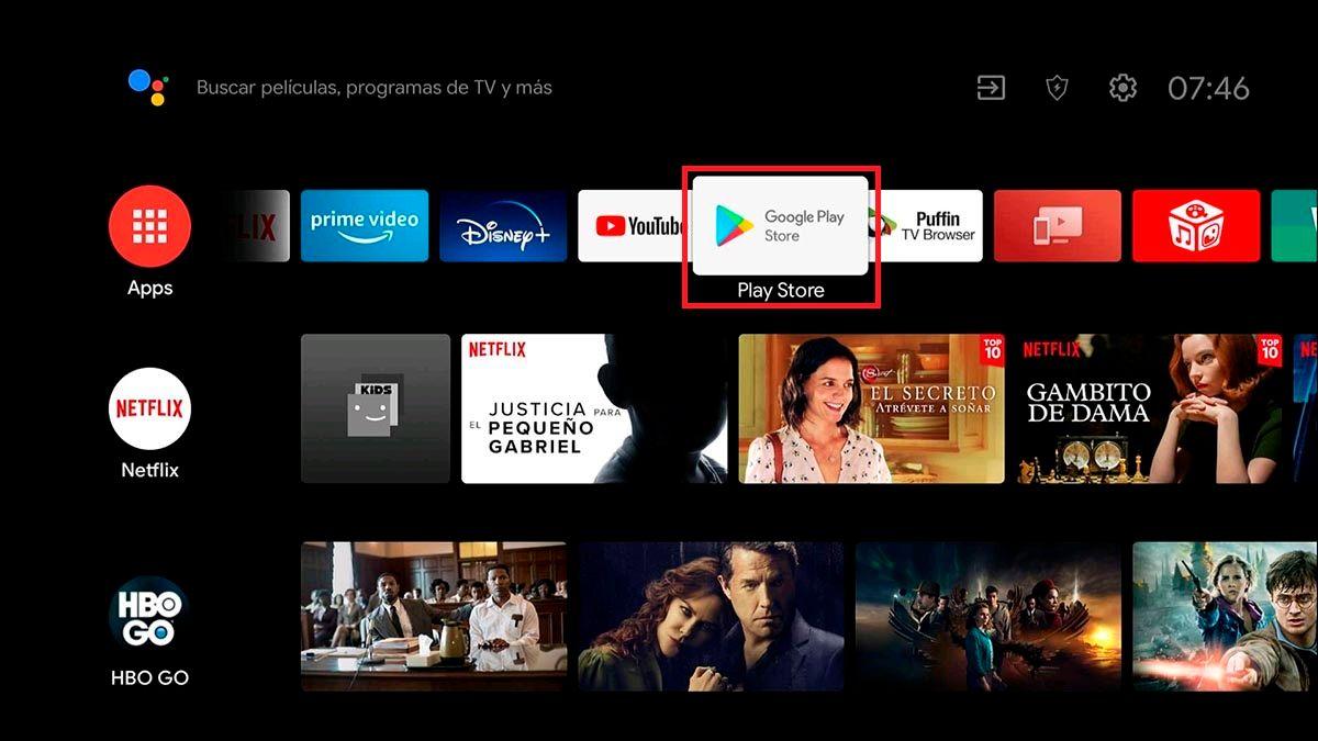 Instalar aplicaciones en Android TV