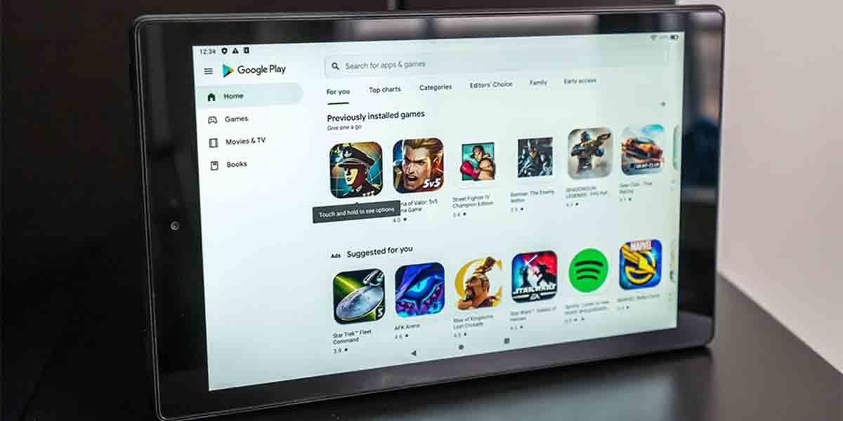 Instalar app tablet Amazon
