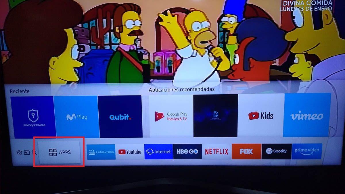 Instalar apps Samsung Smart TV Paso 2