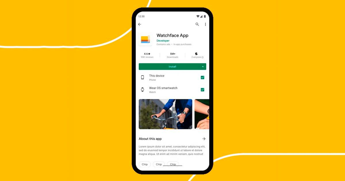 Instalar apps Wear OS con móvil Play Store