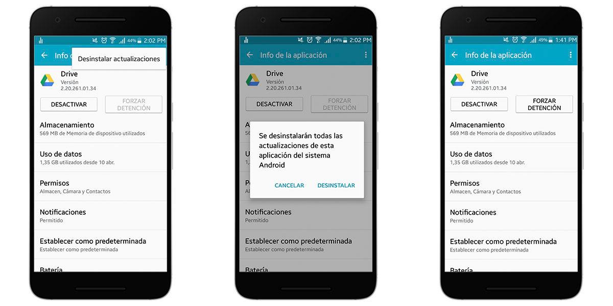 Instalar una versión anterior de una aplicación en Android