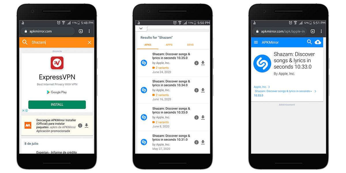 Instalar una versión anterior de una app en Android