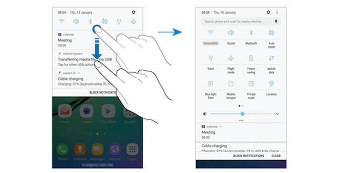 Interfaz Galaxy S6 Nougat