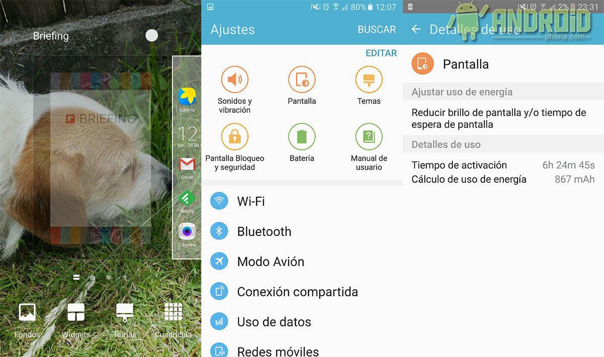 Interfaz Galaxy S7