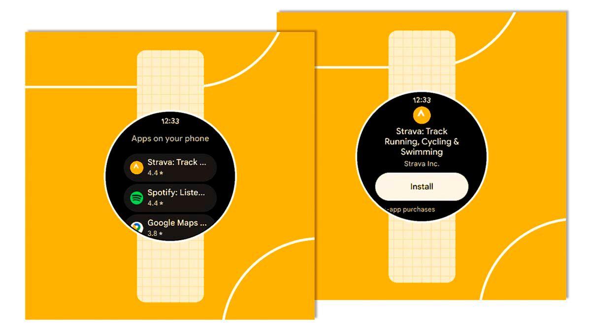 Interfaz Google Play se renueva Wear OS