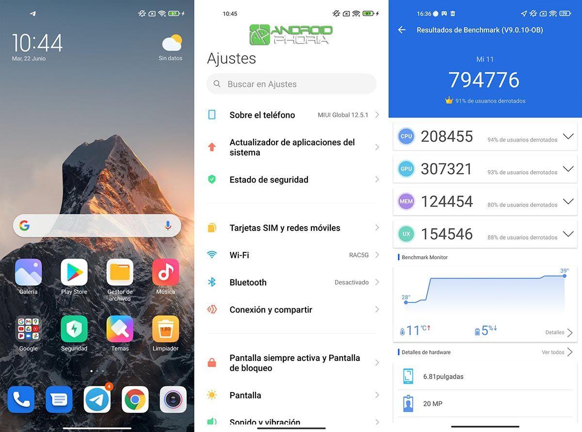 Interfaz Xiaomi Mi 11