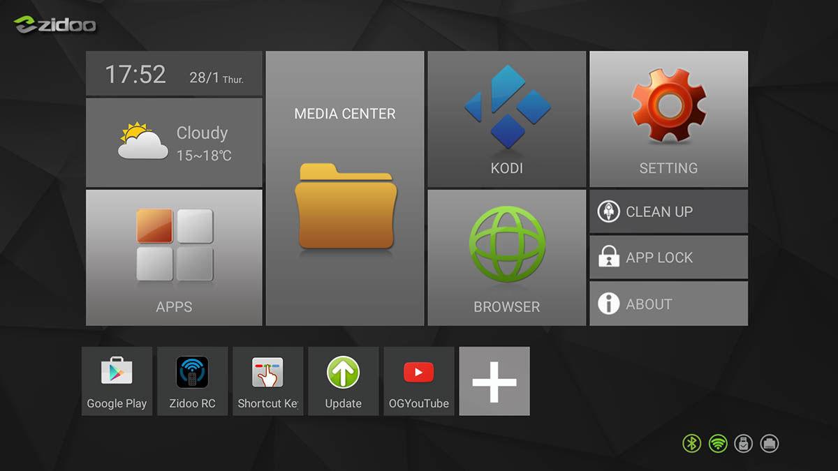 Interfaz Zidoo X6 Pro