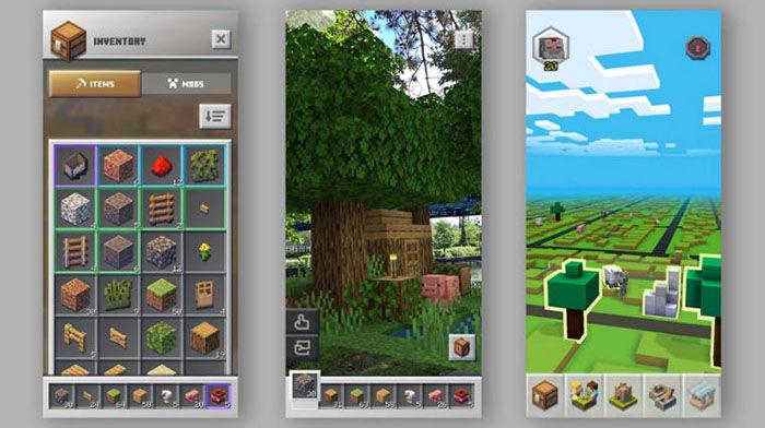 Inventario Minecraft Earth