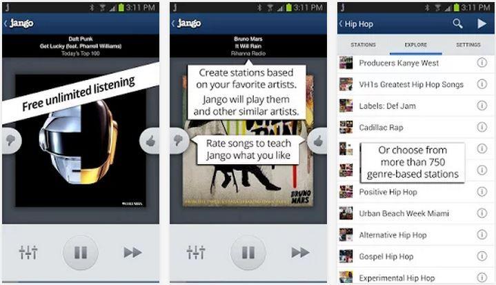 Jango Radio para Android