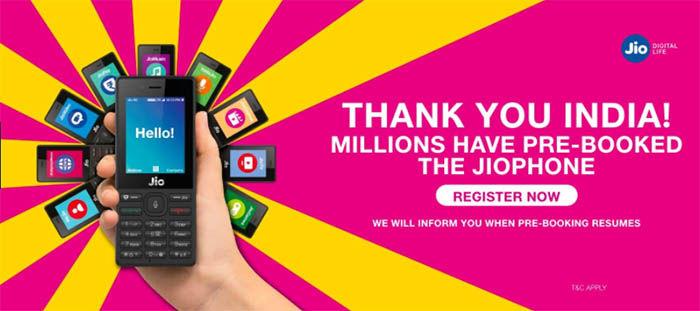 JioPhone sobrepasa las reservas en India