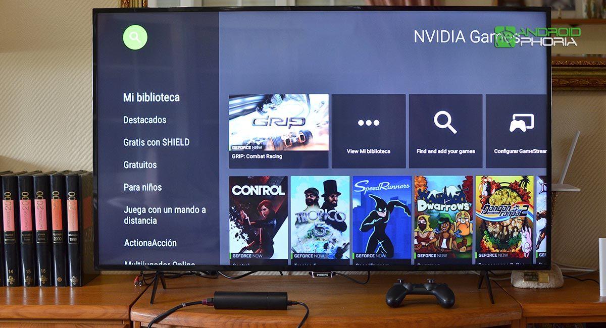 Jugando Nvidia Shield TV