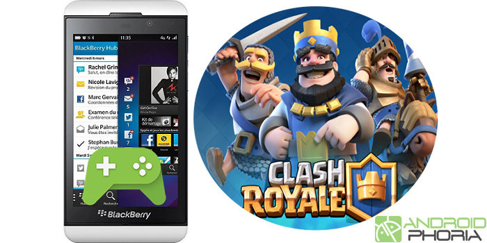 Jugar Clash Royale en BlackBerry