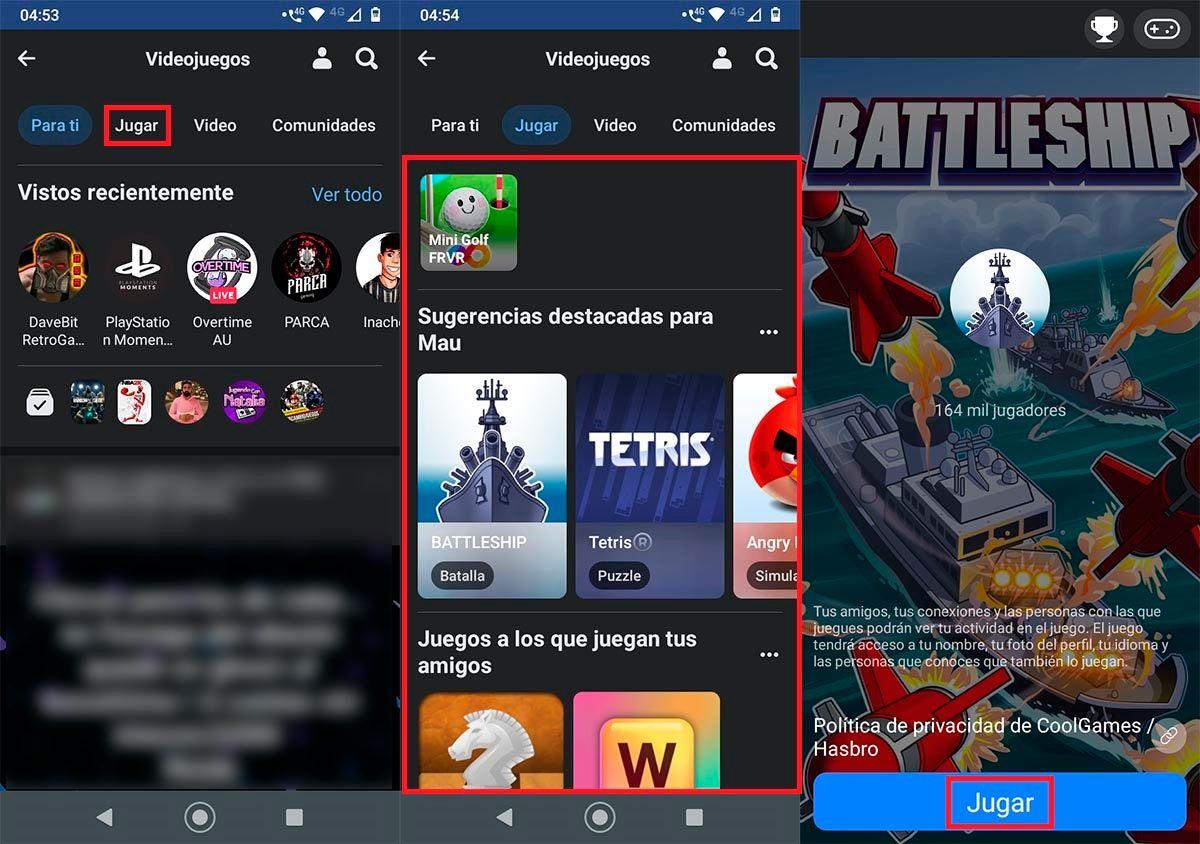 Jugar Facebook Gaming movil