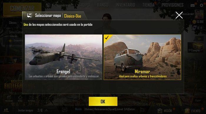Jugar en mapa Miramar en PUBG Mobile b