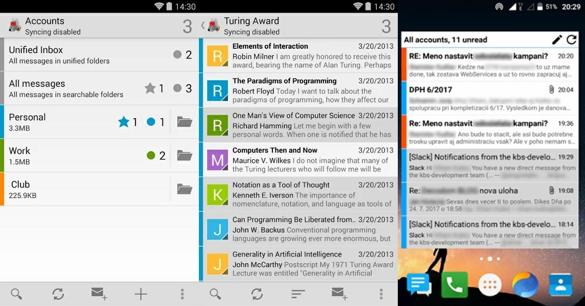 K-9 Mail app