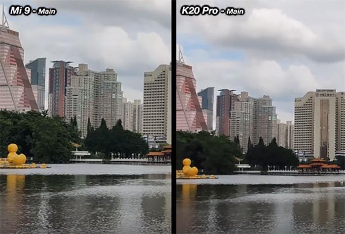 K20 Pro vs Mi 9 camaras comparativa