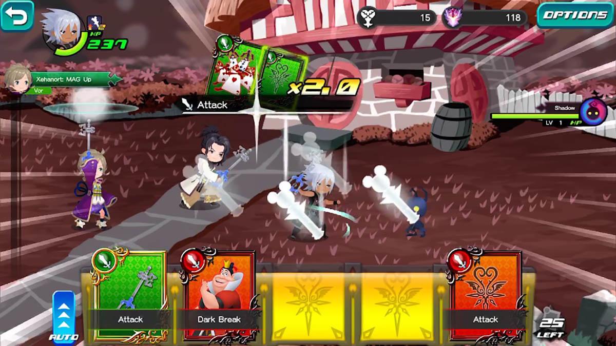 Kingdom Hearts Dark Road jugabilidad