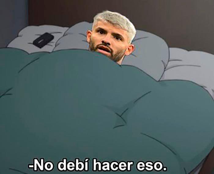 Kun Aguero meme Messi Barcelona