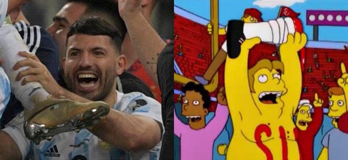 Kun Aguero meme los simpsons Argentina campeon