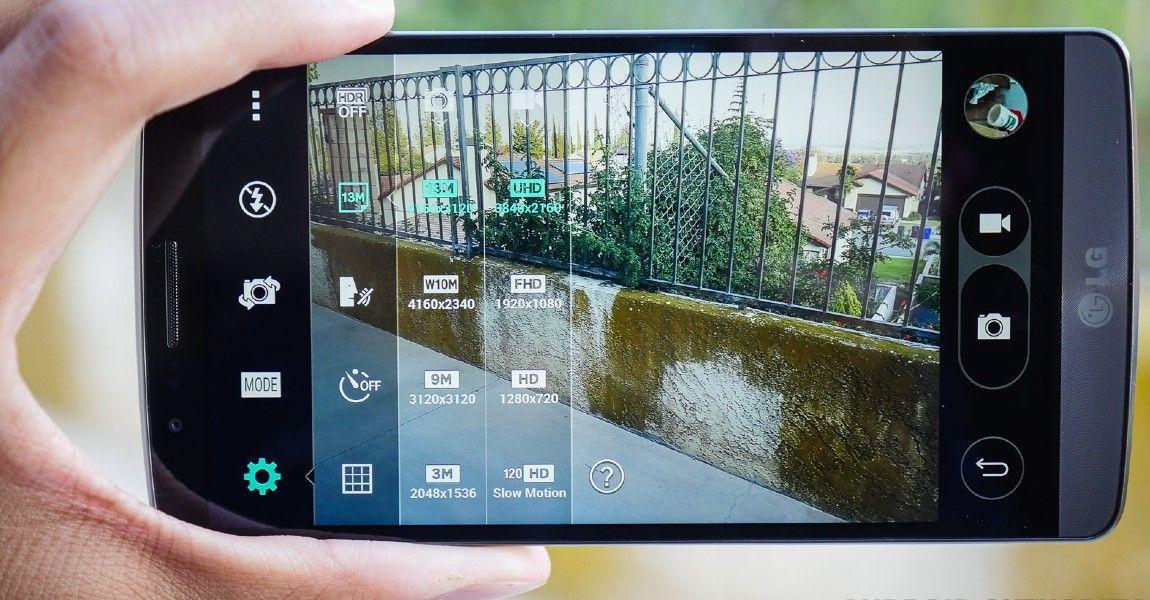 LG G3 Modo manual de cámara