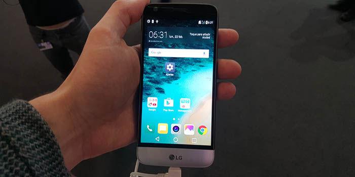 LG G5 en mano