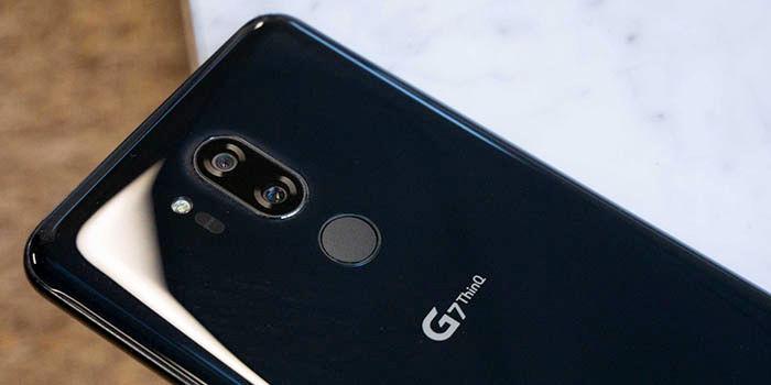 LG G7 lector huellas