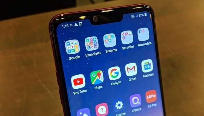 LG G8 ThinQ notch