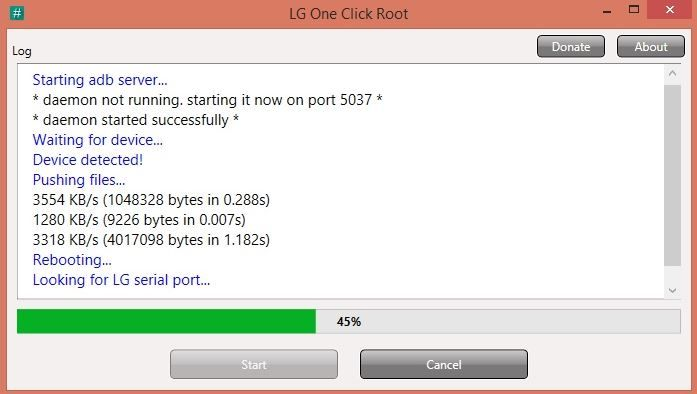 LG One Click Root