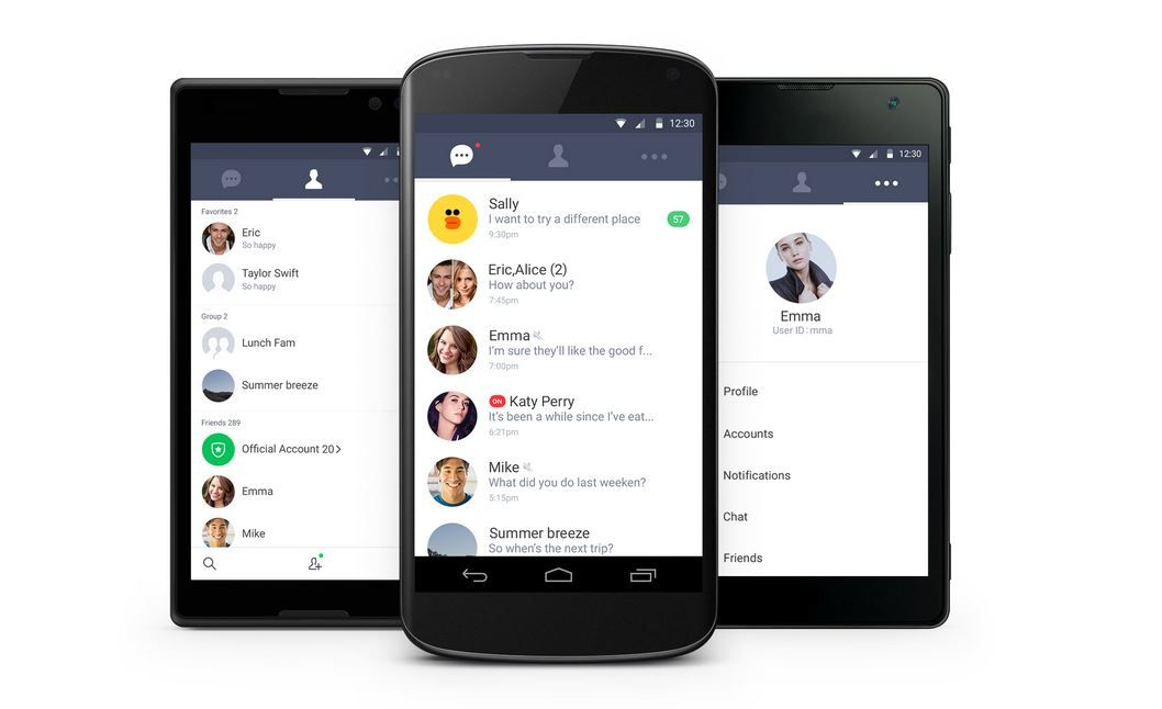 LINE liviano para Android