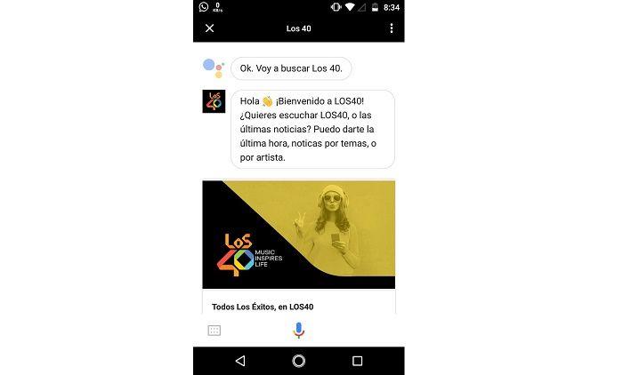 LOS40 en Google Assistant