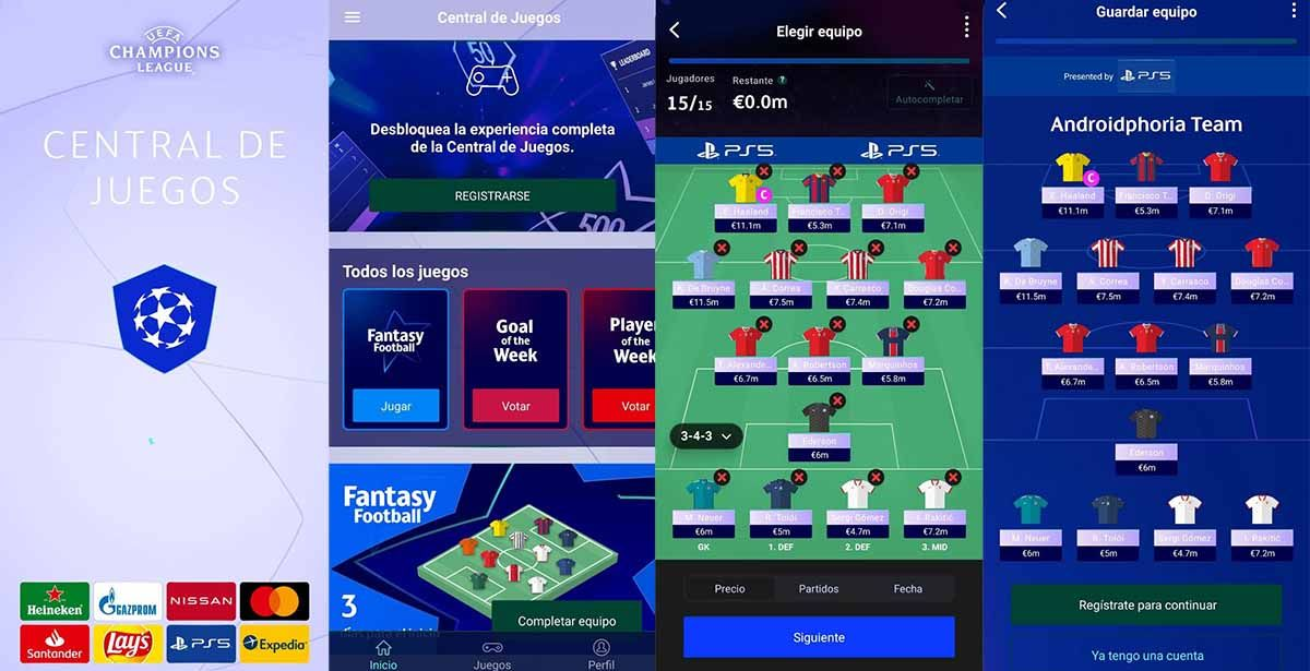 La Champions es más divertida con la Central de Juegos de la UEFA