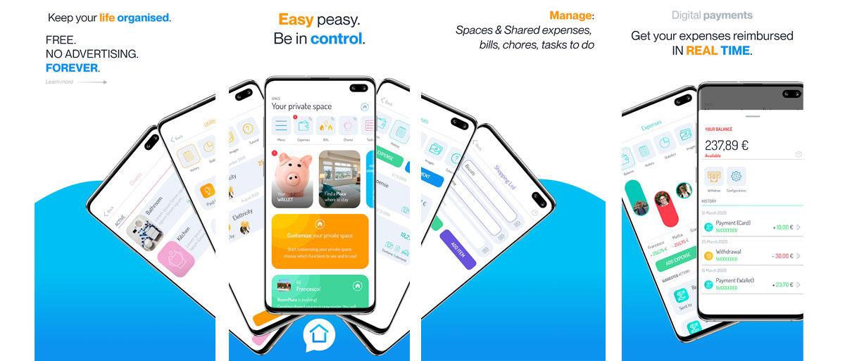 La aplicación perfecta para pagar a medias con tus compañeros de piso y repartir tareas