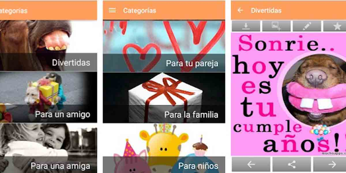 La app más popular, Felicitaciones de Cumpleaños