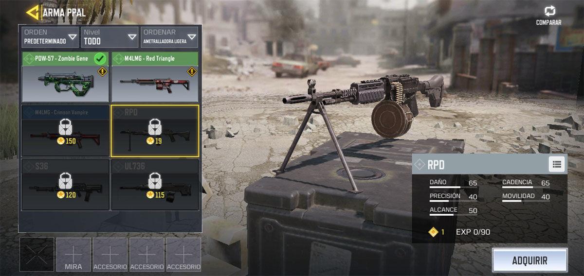 La mejor ametralladora ligera de Call of Duty Mobile