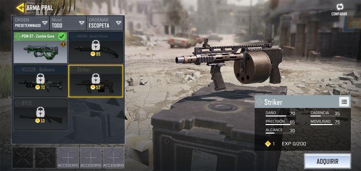 La mejor escopeta de Call of Duty Mobile