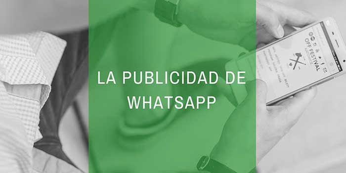 La publicidad de WhatsApp