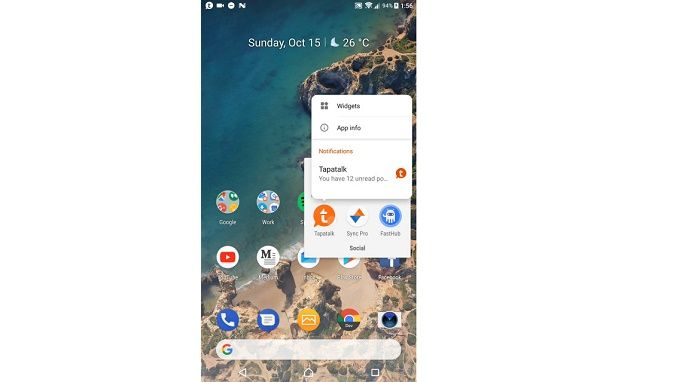 Launcher Android P interfaz c