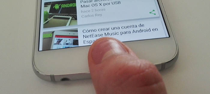 Lector huellas Galaxy S6 Androidphoria