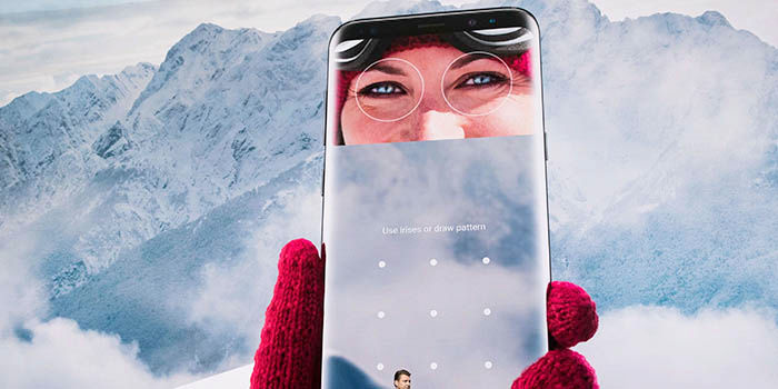 Lector iris Galaxy S8