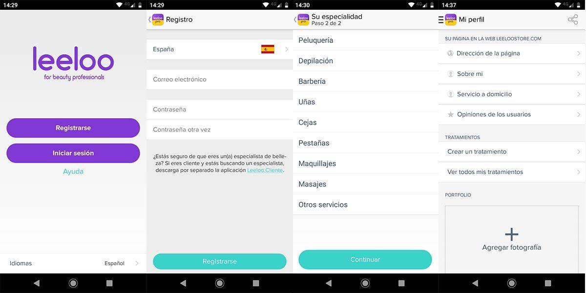 Leeloo app registro