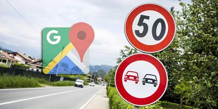 Limite de velocidad en Google Maps