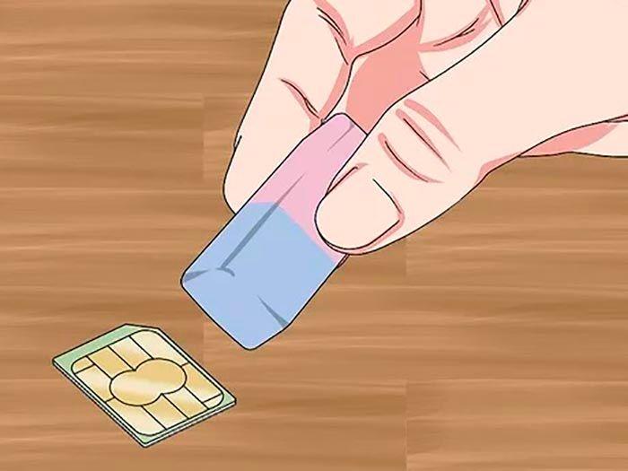 Limpiar tarjeta SIM movil Motorola