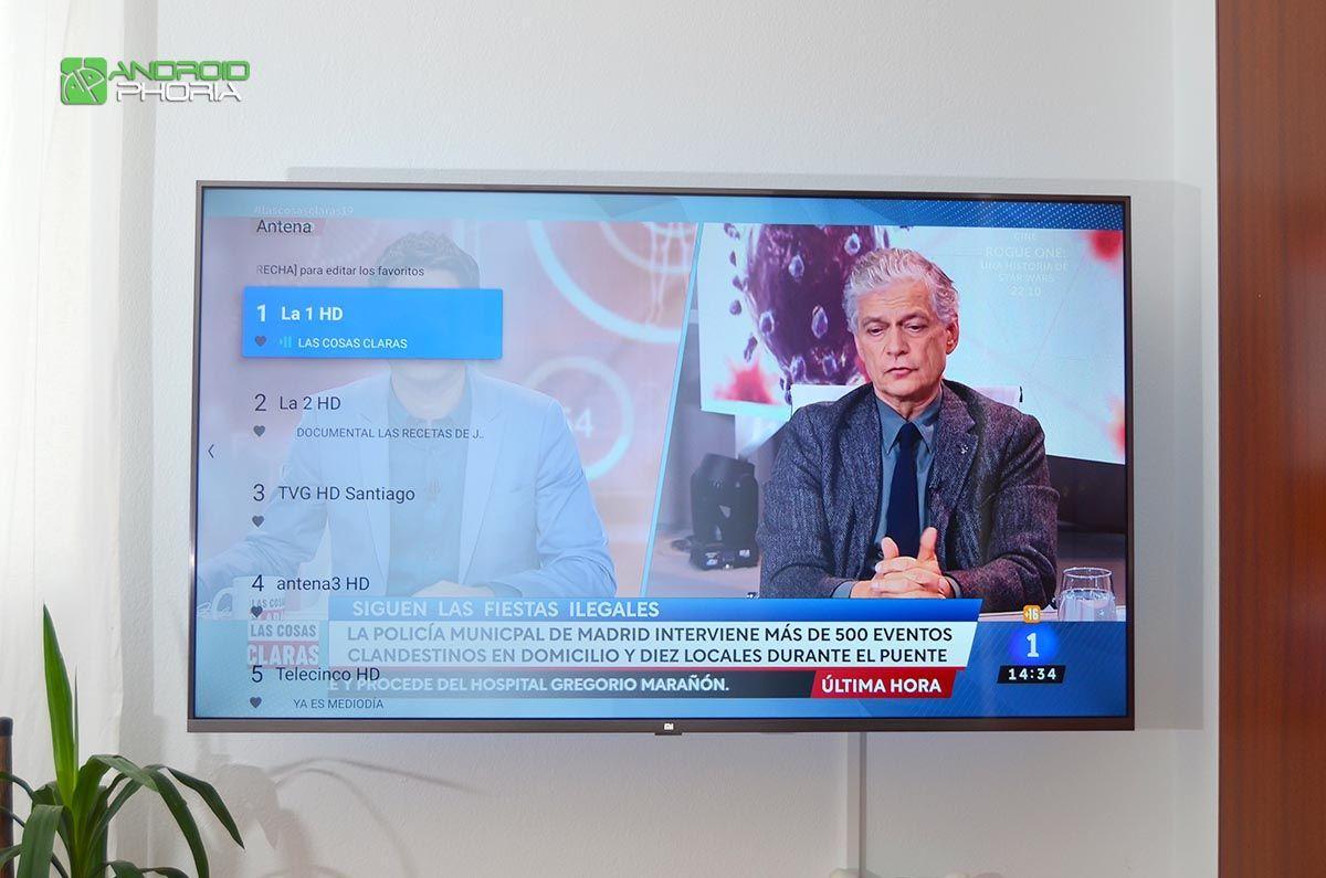 Lista de canales Xiaomi Mi TV 4S 55