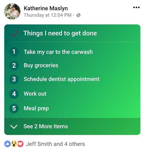 Listas en Facebook