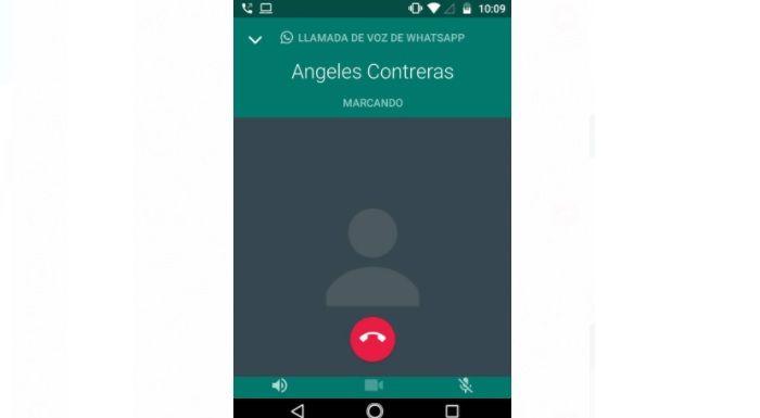 Llamada de voz en WhatsApp contacto bloqueado