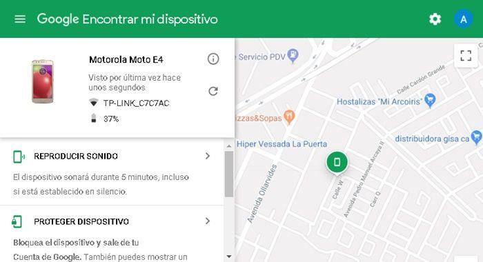 Localizar mi dispositivo Android sin apps